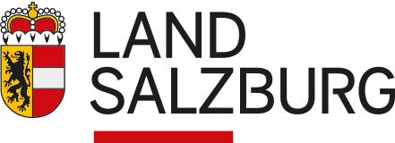 Logo des Landes Salzburg mit dem Landeswappen und Textinhalt Land Salzburg