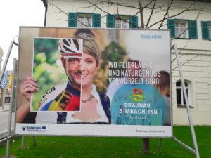 Interreg Werbetaftel Feierlaune und Naturgenuss
