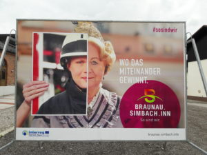 Interreg Werbetafel Miteinander gewinnt