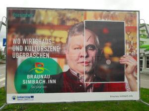 Interreg Werbetafel Wirtshaus- und Kulturszene
